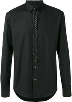 Les Hommes studded tie placket shirt - men - Cotton/Spandex/Elastane - 48