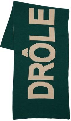 Logo Merino Wool Blend Scarf