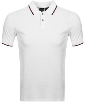 Armani Exchange Tipped Polo T Shirt White