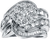 JCPenney MODERN BRIDE 4 CT. T.W. Diamond 14K White Gold Swirl Ring