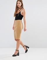 Glamorous Lurex Bodycon Midi Skirt