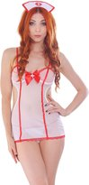 Simplicity Naughty Nurse Nightie in Sexy Sheer Fibers, Ultra Short