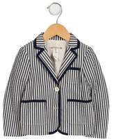 Bonpoint Girls' Striped Peak-Lapel Blazer