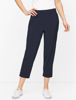 Talbots Lightweight Stretch Woven Cutout Crops