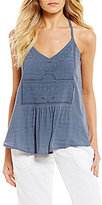 Roxy Up And Up Embroidered Tank Top