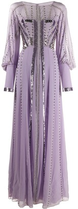 Temperley London Embroidered Long Dress