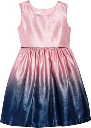 Frais Ombre Metallic Shimmer Fit & Flare Dress