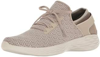 Skechers Women's You-Inspire Low-Top Sneakers, Black, Beige (Nat), 2 UK