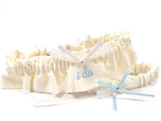 Cathy's Concepts Cathys Concepts Embroidered I Do Wedding Garter In Ivory