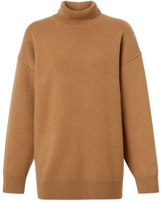 Burberry Monogram Motif Cashmere Blend Funnel Neck Sweater
