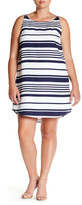 BB Dakota Sleeveless Striped Trapeze Dress (Plus Size)