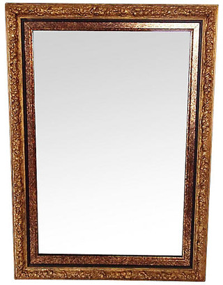 One Kings Lane Vintage Giltwood Mirror with Double Frame - The Gilded Room