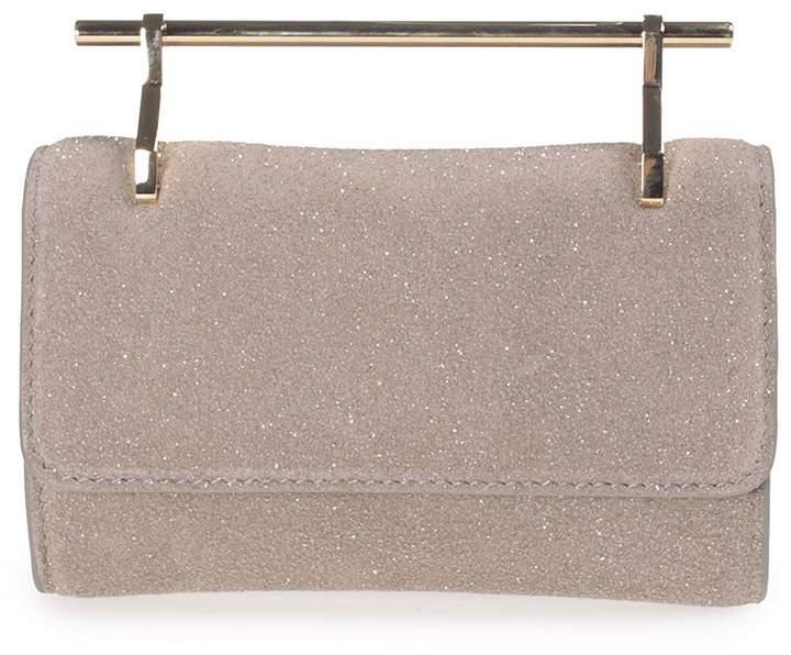 M2Malletier Fabricca Mini Glittered Leather Handbag
