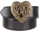 Moschino Leather Heart Waist Belt