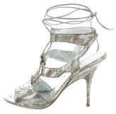Donna Karan Metallic Cutout Sandals
