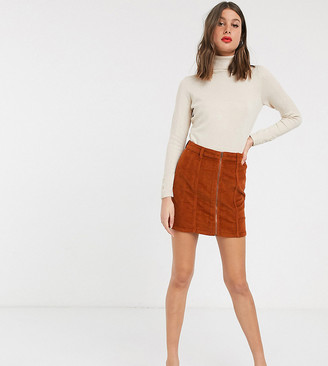 N.Y.L.A. Only corduroy zip front a line skirt