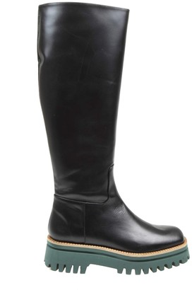 Paloma Barceló Anger Boot In Black Colroe Leather