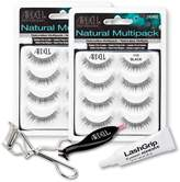 Ardell Fake Eyelashes Value Pack - Natural Multipack 110 (Black, 2-Pack), LashGrip Strip Adhesive, Dual Lash Applicator - Everything You Need For Perfect False Eyelashes