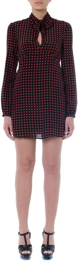 0e6dbc70cb Lavalliere Silk Dress With Star Scandal Print