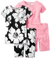 Carter's 4 Piece Floral PJ Set (Toddler/Kid) - Print - 5