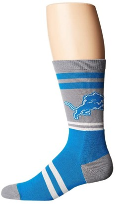 Stance NFL Lions Logo (Grey) Men's Crew Cut Socks Shoes