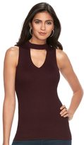JLO by Jennifer Lopez Women's Choker Neck Ribbed Tank