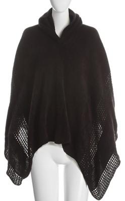 Crown Vintage Knit Hooded Poncho