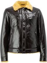 Drome shearling button jacket - men - Lamb Skin/Viscose/Polybutylene Terephthalate (PBT) - S