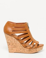 Le Château Leather-Like Gladiator Platform Wedge