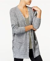 Hippie Rose Juniors' Marled Lace-Up Cardigan