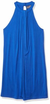 Michael Stars Women's Sleeveless Draped Halter Dress