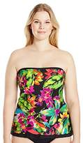 Maxine Of Hollywood Women's Summer Bounty Ruffle Tankini with Removable Straps