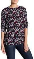 Kensie Long Sleeve Floral Hi-Lo Blouse