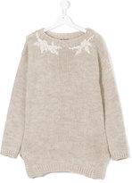 Ermanno Scervino flower-knit jumper