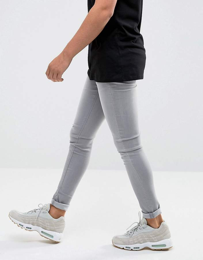 WÅVEN Extreme Skinny Fit Jeans in Light Used Gray