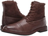 Frye Murray Lace-Up (Dark Brown Waxed Dip-Dye/Suede) Men's Lace-up Boots