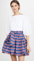 Stella Jean Mini Dress With Striped Skirt
