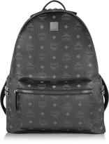 MCM Black Stark Medium Backpack
