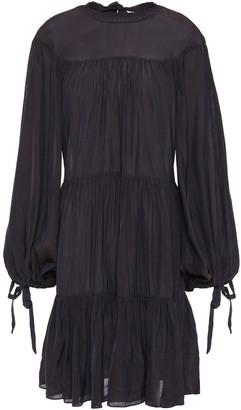 3.1 Phillip Lim Tie-detailed Tiered Crinkled-taffeta Dress