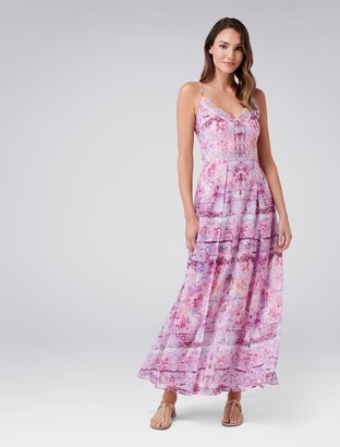 Forever New Renee Maxi Dress - Pink Print - 4