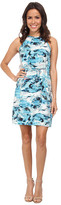 Calvin Klein Jeans Printed Drawcord Halter Dress