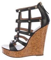 Valentino Rockstud Cage Wedge Sandals