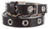 M Missoni Leather Grommet Belt w/ Tags