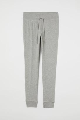 H&M Cotton-blend Joggers - Gray