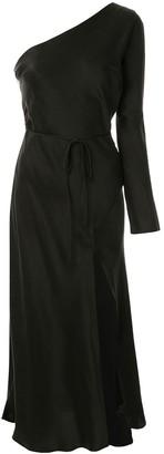 Bec & Bridge Bec + Bridge asymmetric silk midi dress