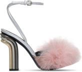 Marco De Vincenzo Feather-embellished high-heeled sandals