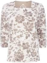 Tigi Three Quarter Sleeve Floral Top