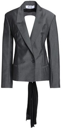 Chalayan Crepe De Chine-paneled Wool And Mohair-blend Blazer
