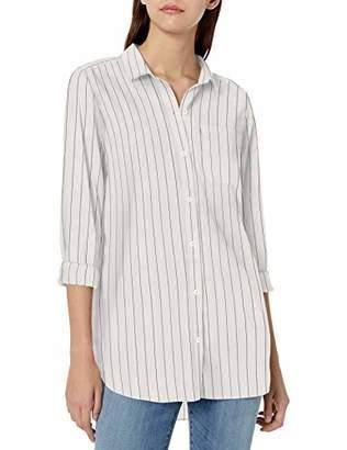 Goodthreads Lightweight Poplin Long-sleeve Boyfriend Shirt Button,Medium