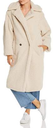 Apparis Daryna Double-Breasted Sherpa Coat